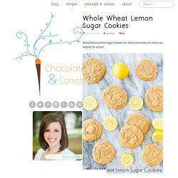 Whole Wheat Lemon Sugar Cookies