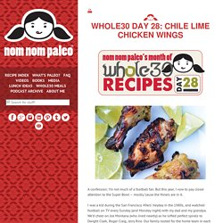 Whole30 Day 28: Chile Lime Chicken Wings
