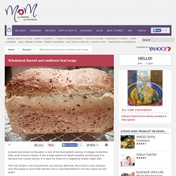 Wholemeal linseed and sunflower loaf recipe - Real Recipes from Mums