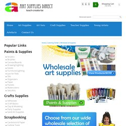 Wholesale art supplies