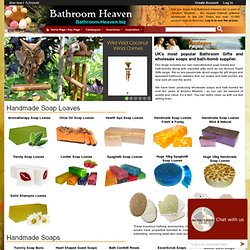 Wholesaler of Bath Bombs, Soap Loaves & Bath Salts