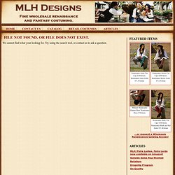 Wholesale Costuming - MLH Designs