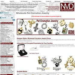 Wholesale Pet Cremation Jewelry