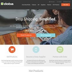 Drop Ship Wholesale Products - Wholesale Drop Shipping for Retailers | Doba