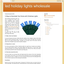 3 Ways to Illuminate Your Home with Christmas Lights