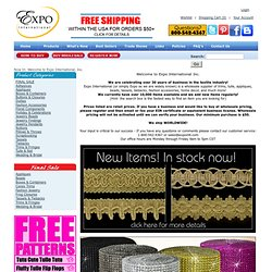 Wholesale Trims, Appliques, Beads, Crafts - Expo International, Inc.