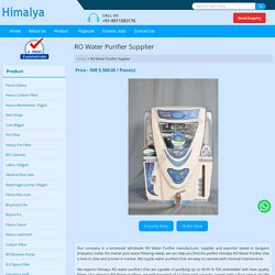 RO Water Purifier Manufacturer & Supplier in Gurgaon