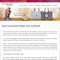 Wholesale Women Cotton Handbags Exporter