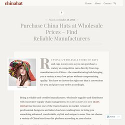 Purchase China Hats at Wholesale Prices – Find Reliable Manufacturers – chinahat