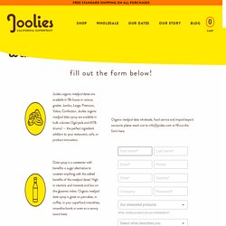Wholesale Medjool Dates California Grown – Joolies Organic Medjool Dates