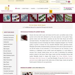 Garnet Beads Wholesale