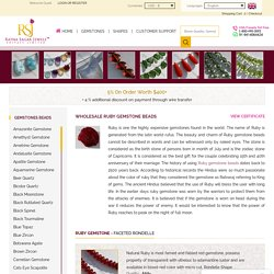 Ruby Beads in Wholesale Prices