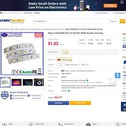 Wholesale Shopping 60pcs 5050SMD DC12V DC24V RGB flexible led strip Online - GMC Order