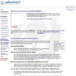 whoohoo.co.uk - Scottish Translator!