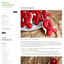 Red Velvet Whoopie Pies « Recipes Remembered