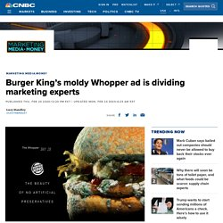 Burger King's moldy Whopper ad is dividing marketing experts
