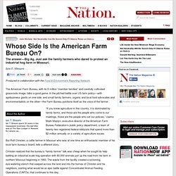 Whose Side Is the American Farm Bureau On?