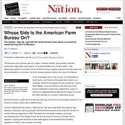 Whose Side Is the American Farm Bureau On?