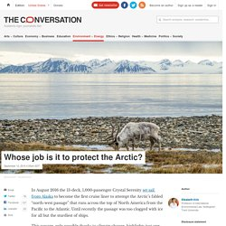 Global commons: Who's responsible for the Arctic?