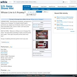 Whose Line is it Anyway? - Game Shows Wiki