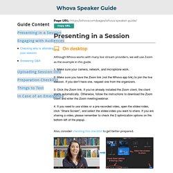 Speaker Guide - Whova