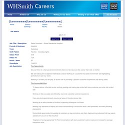WHSmith Careers - Job details