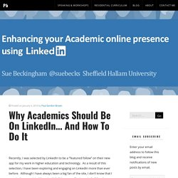 Why Academics Should Be On LinkedIn… And How To Do It