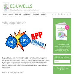 Why App Smash? – EDUWELLS