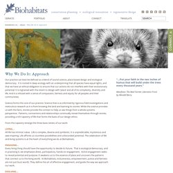 Why We Do It: Approach » Biohabitats Inc.