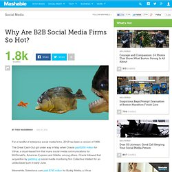 Why Are B2B Social Media Firms So Hot?