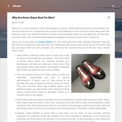 Why Are Dress Shoes Best For Men?