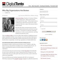 Why Big Organizations Are Broken