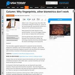 Why biometrics don't work