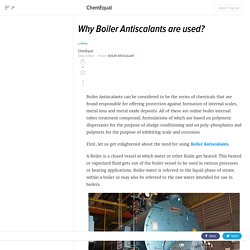 Why Boiler Antiscalants are used?