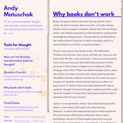 Why books don't work