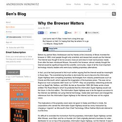 Why the Browser Matters