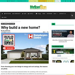 Why build a new home?