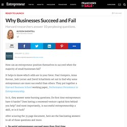 Why Businesses Succeed and Fail