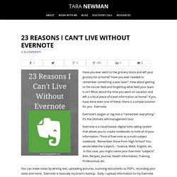 Why I Can't Live Without Evernote