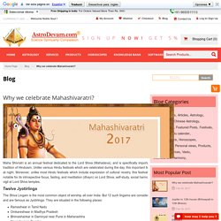 Why We Celebrate Mahashivaratri?