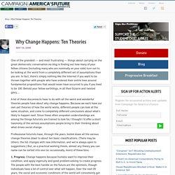 Why Change Happens: Ten Theories