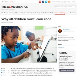Why all children must learn code