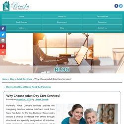 Why Choose Adult Day Care Services?