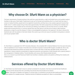 Why Choose Doctor Sfurti Mann