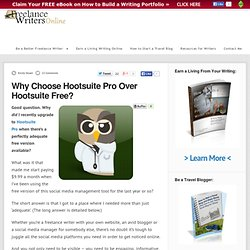 Why Choose Hootsuite Pro Over Hootsuite Free?