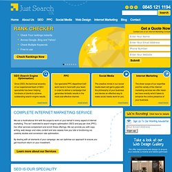 SEO, Search Engine Optimisation & Website Optimization - Just Search