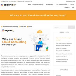 Why are AI and Cloud Accounting the way to go- Sagenext