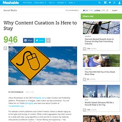 Why Content Curation Is Here to Stay