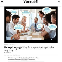 Why Do Corporations Speak the Way They Do?