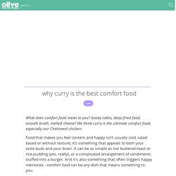 Why curry is the best comfort food